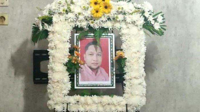 Foto semasa hidup Benny MP Sinambela, korban pembunuhan di Hotel Hawai, Jalan Jamin Ginting Kecamatan Medan Tuntungan, Minggu (10/10/2021).