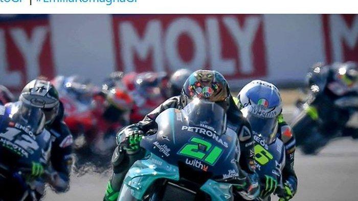 LIVE MotoGP Hari Ini Rossi Start Posisi 4 Geser Jack Miller, Bagnaia dan Quartararo Start di Depan