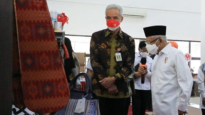 Didampingi Ganjar Wapres Dialog dengan Pelaku UMKM Jateng