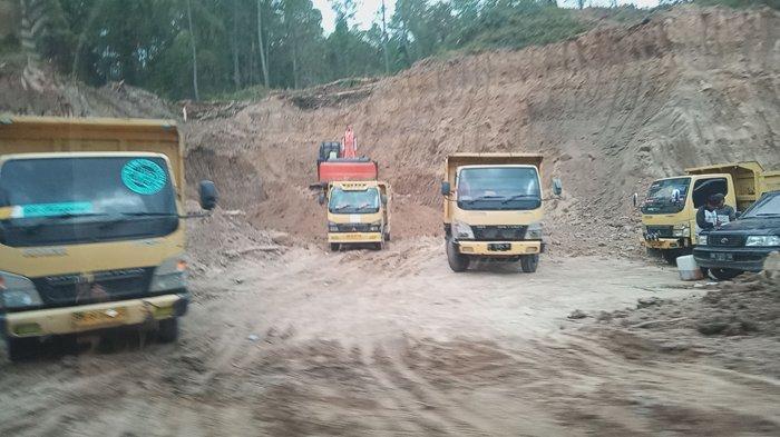 Galian C di Sekitar Geo Site Geopark Kaldera Toba Terus Beroperasi