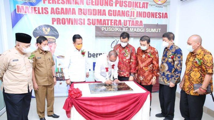 Gubsu Edy Rahmayadi Resmikan Gedung Pusdiklat Majelis Agama Buddha Guang Ji Indonesia Provsu