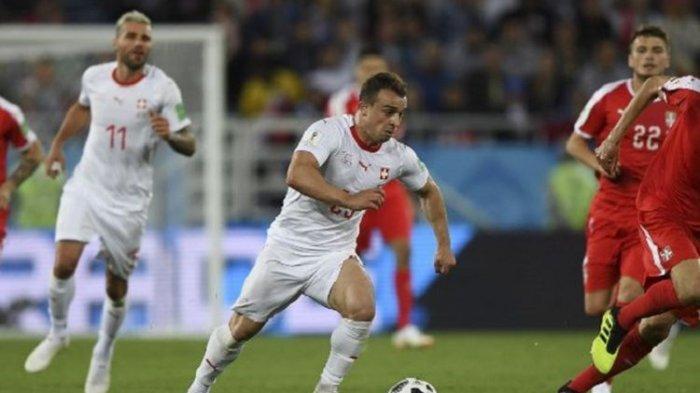 FULL TIME: SWISS vs SERBIA, Luar biasa Gol Spektakuler Xherdan Shaqiri di Menit Akhir