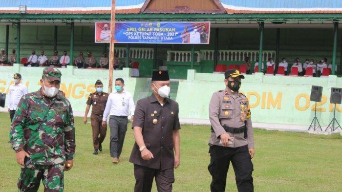 Cegah Pemudik, 137 Personil Polisi di Taput Turun Amankan 5 Lokasi Penyekatan