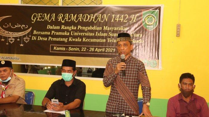 Pramuka UISU Laksanakan Gema Ramadan 1442 H di Desa Pematang Kwala