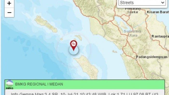 5 KALI GEMPA di Nias Dengan Kekuatan 5,6 Magnitudo dan Soal Kabar Tsunami, Ini Penjelasan BMKG