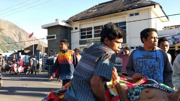 Gempa Lombok dan Bali, Korban Sementara 3 Meninggal Tertimpa Reruntuhan Bangunan