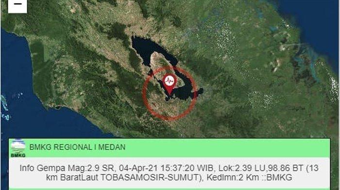 Sehari 7 Kali Samosir Diguncang Gempa, Begini Penjelasan BMKG Terkait Isu Gunung Toba Kembali Aktif