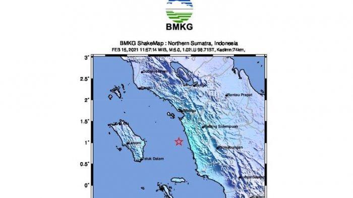 Gempa Tektonik M 5,1 Guncang Tapsel, BMKG Sebut Tidak Berpotensi Tsunami