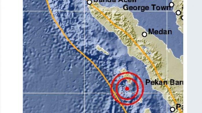 Gunung Sitoli Digunjang Gempa M 4,5