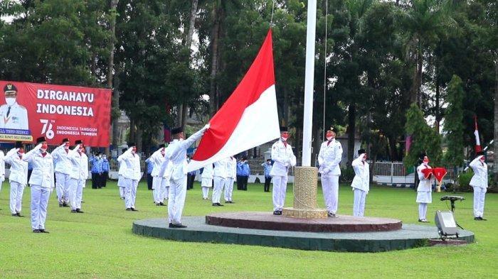 Berlangsung Khidmat, Pelaksanaan Upacara HUT ke-76 RI di Deli Serdang Terapkan Prokes Ketat