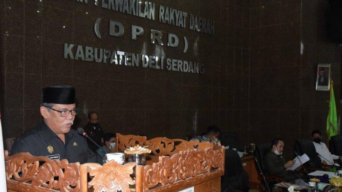 Wabup Ali Yusuf Siregar Sampaikan Jawaban Terhadap Pandangan Umum Fraksi DPRD Deli Serdang