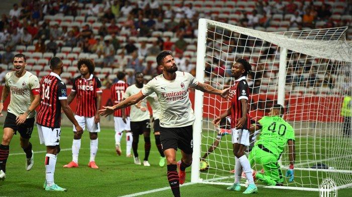 HASIL Laga Pramusim AC Milan, Debut Olivier Giroud Langsung Cetak Gol, tapi Tertahan di Prancis