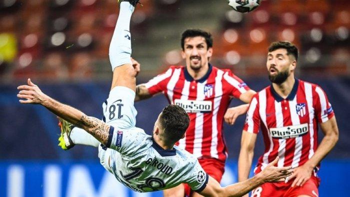 HASIL Liga Champions - Gol Salto Giroud Bungkam Atletico, Chelsea Pulang dengan Modal Bagus