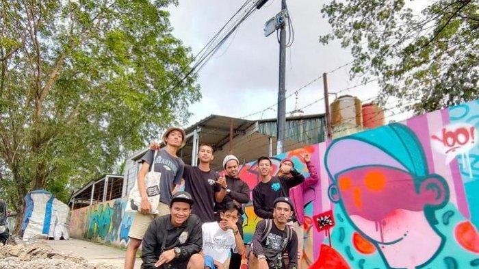 Sempat Terhalang Pandemi, Seniman Grafiti di Medan Gelar Bomb Ink Clan