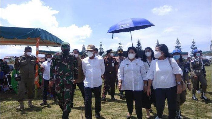 GUBERNUR Edy Pantau Vaksinasi di Karo, Sebut Pemprov Targetkan Minimal 70 Persen Masyarakat Divaksin