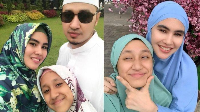 Habib Usman, Kartika Putri, dan putri sambungnya Syarifah Syahra.