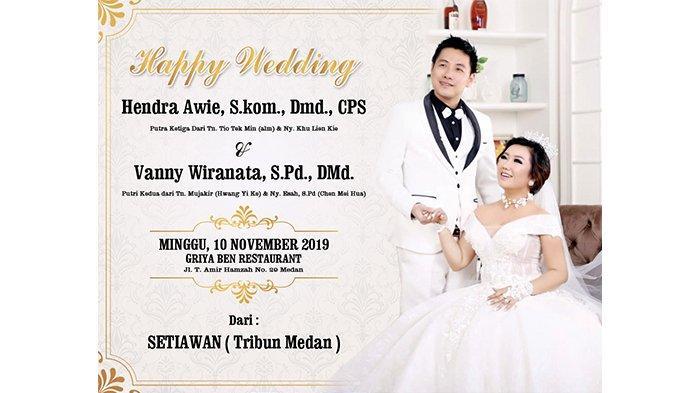 Selamat Menempuh Hidup Baru untuk Hendra Awie dan Vanny Wiranata