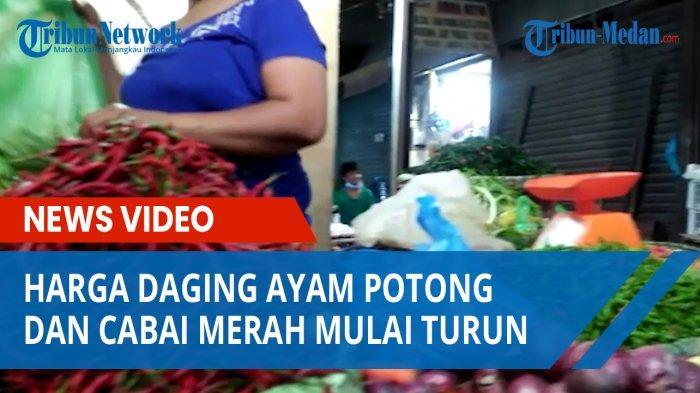 Sepi Pembeli, Harga Daging Ayam Potong dan Cabai Merah Mulai Turun di Pusat Pasar Medan