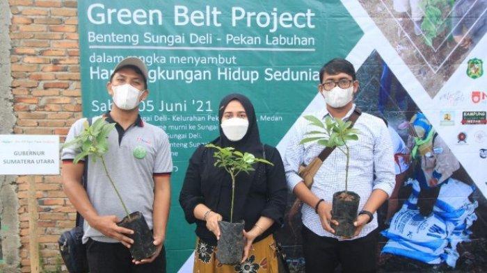 HARI LINGKUNGAN HIDUP SEDUNIA - PT Midi Utama Indonesia Tbk (Alfamidi), selaku dunia industri berkolaborasi dengan civitas akademik (Universitas Medan Area dan STIEMA), juga yayasan peduli terhadap lingkungan (Yayasan Budaya Hijau Indonesia dan Relawan Eco Enzym) mengadakan kegiatan peduli lingkungan pada Sabtu (5/6/2021). (Tribun-medan.com/HO)