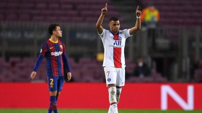 Hasil Barcelona vs PSG 1-4 Liga Champions Babak 16 Besar Leg Pertama. Laga Ini Jadi Panggung Kylian Mbappe Dengan Cetak Hattrick