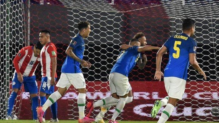 HASIL Kualifikasi Piala Dunia 2022 - Brasil Tekuk Paraguay, Tim Neymar Jauhi Messi Cs dari Klasemen