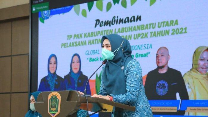 Global Go Green Indonesia menggandeng para ibu PKK Labuhanbatu Utara (Labura) dalam kegiatan Back To Green, Back To Great, Selasa (3/8/2021).