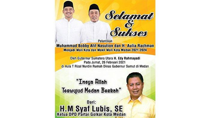 Bobby-Aulia Resmi Dilantik, Syaf Lubis: Insya Allah Terwujud Medan Berkah