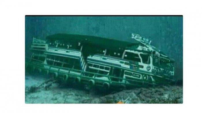 Beredar Foto Hoax Bangkai KM Sinar Bangun di Dasar Danau Toba, Ini Penjelasan BNPB
