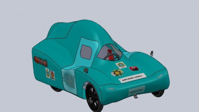 Juara 2 Lomba KMHE 2020, Tim Horas USU Rancang Mobil Ramah Lingkungan