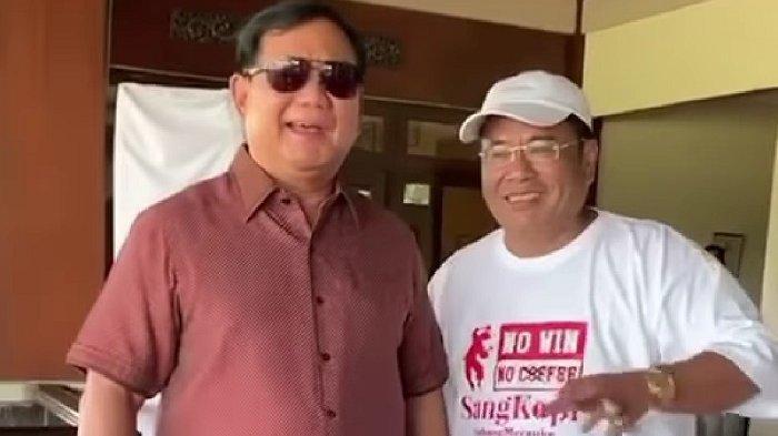 Hotman Paris Hutapea saat bertemu dengan Menteri Pertahanan Prabowo Subianto