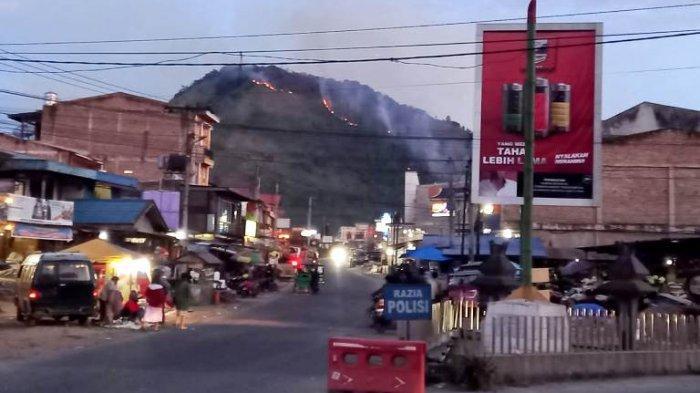Cuaca Ekstrem, Hutan Gunung Sipiso-piso Terbakar