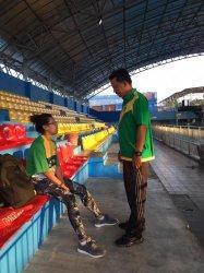Pelatda Berjalan di Rumah, Atlet Loncat Indah Chairunisa Adinda Putri Latihan Fisik dengan Treadmill