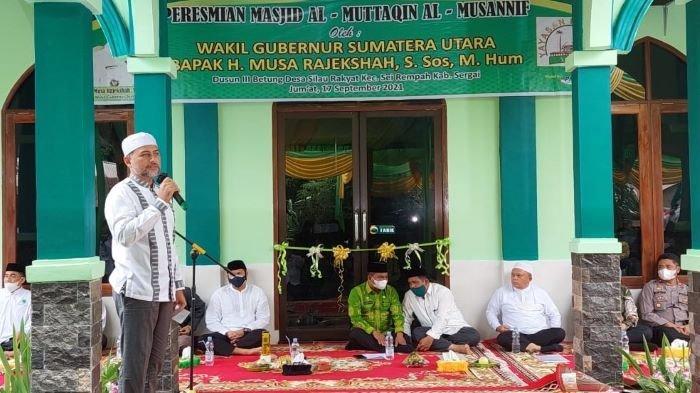 Lanjutkan Pesan Almarhum H Anif Shah, Ijeck Resmikan Masjid ke 23 di Kabupaten Sergai