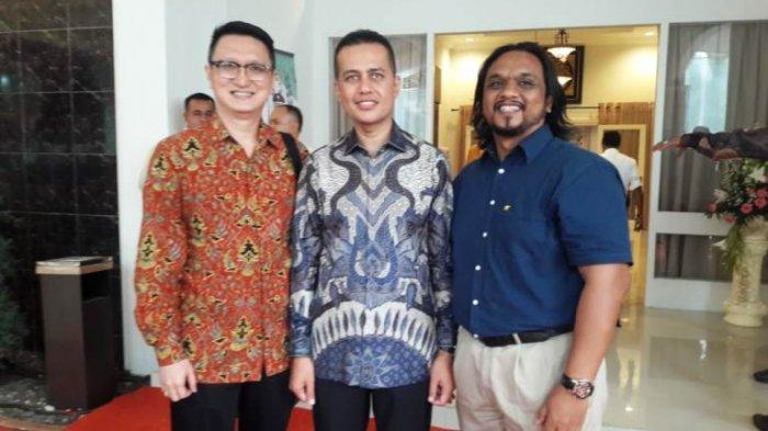 Tribun Medan Hadiri Open House Lebaran Wagub Musa Rajekshah