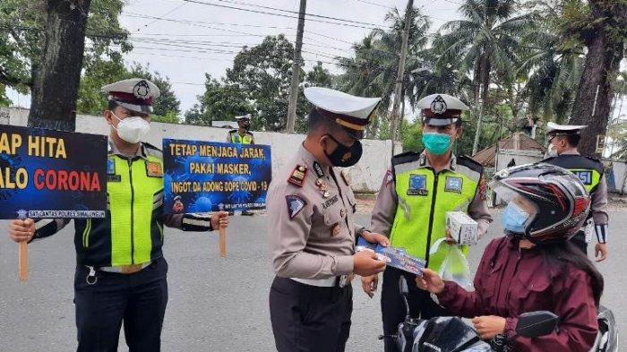 Soal Larangan Mudik, Polres Simalungun Mulai Turun ke Jalan Periksa Pintu Masuk