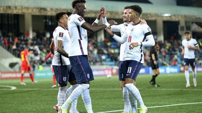 HASIL Kualfikasi Piala Dunia 2022 - Inggris dan Polandia Kompak Menang 5-0, Kiper Ikut Buat Assist