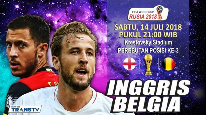 Jadwal INGGRIS vs BELGIA: Perebutan Posisi Ketiga, Tonton Live Streaming via Ponsel