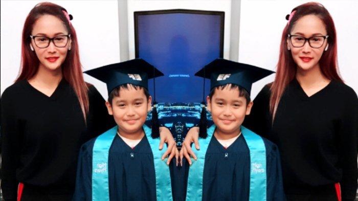 Inul Daratista dan anaknya Yusuf Ivander Damares