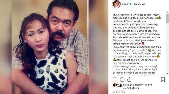 Inul Daratista dan suaminya Adam Suseno