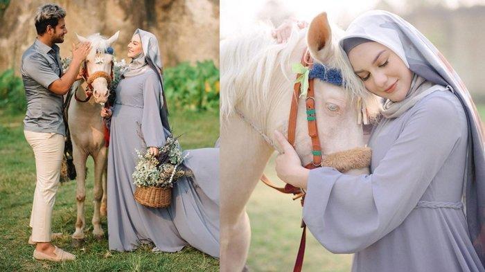 Irish Bella Kenakan Hijab Di Pemotretan Maternity, Penampilan Cantiknya Dibilang Bikin Pangling
