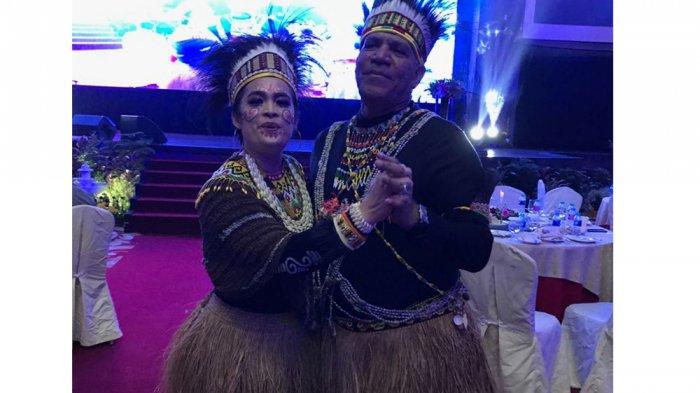 Irjen Pol Paulus Waterpauw saat pisah sambut di Grand Aston Medan, Kamis (24/8/2018) malam.