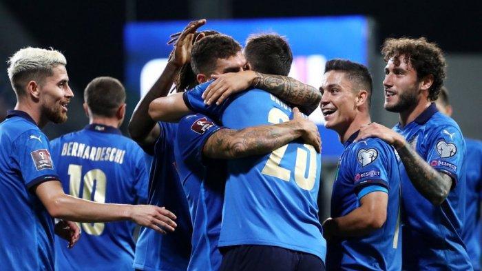 Italia menang telak atas Lithuania dengan skor 5-0 di ajang kualifikasi Piala Dunia 2022