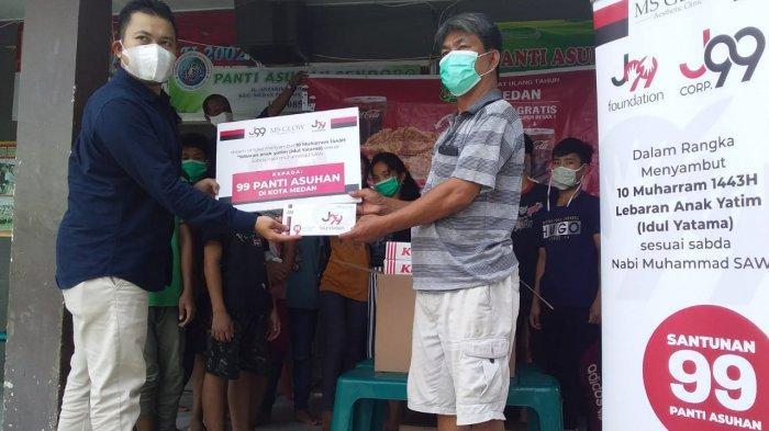 J99 Foundation dan MS Glow Aesthetic Clinic Medan Berikan Santunan ke Panti Asuhan dan Anak Yatim