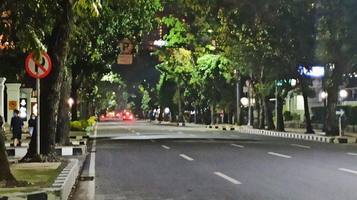 Sejumlah Jalan Protokol di Kota Medan Lengang Jelang Malam Pergantian Tahun