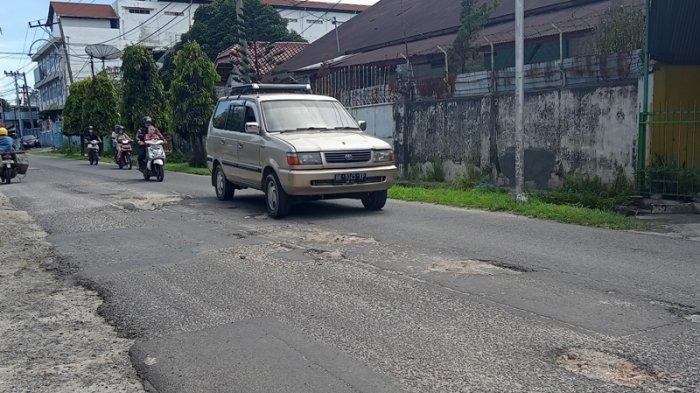 Jalan Pane Rusak, Pemko Siantar Sebut Sudah Dianggarkan Tahun Depan