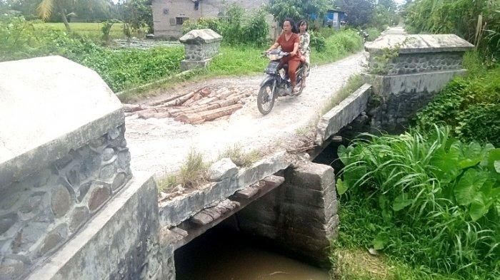 Jembatan Patah yang Pernah Ditinjau Wabup Sergai tak Kunjung Diperbaiki