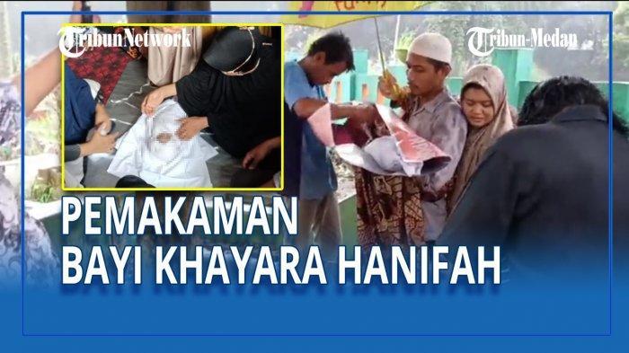 Jenazah Khayra Hanifah Al Maghfirah, bayi diduga dicovidkan RSUD Pirngadi Medan, dimakamkan di Pemakaman Muslim Sei Sikambing, Kamis (10/6/2021).