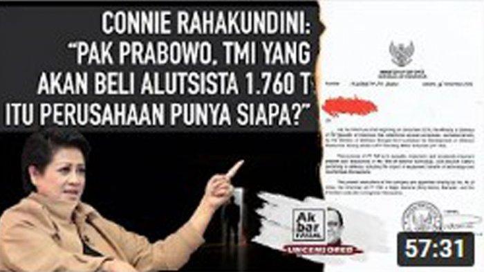 PRABOWO Pecat Jenderal Bos PT TMI terkait Pembelian Alutsista Rp 1.760 Triliun. Pengamat militer Connie Bakrie buka-bukaan membongkar kejanggalan rencana pembelian alutsista dengan utang Rp 1.760 triliun