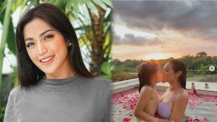 Jessica Iskandar dapat komentar negatif dari netizen usai unggah foto berciuman dengan putranya di kolam renang