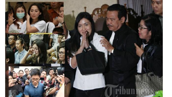 Terdakwa Jessica Kumala Wongso terlihat lesu usai mendengarkan putusan majelis hakim Pengadilan Negeri (PN) Jakarta Pusat, Kamis (27/10/2016). Majelis hakim menjatuhkan pidana penjara selama 20 tahun kepada Jessica Kumala Wongso terkait kasus pembunuhan Wayan Mirna Salihin. Vonis ini sama dengan tuntutan jaksa penuntut umum (JPU) dan penasehat hukum Jessica Kumala Wongso langsung menyatakan banding. TRIBUNNEWS/HERUDIN